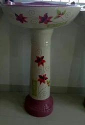 Ceramic Pedestal Deco Set Wash Basin, Shape: Oval, For Washroom