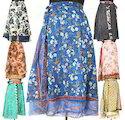 Silk Wrap Multi Layer Skirts
