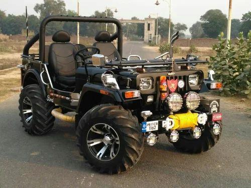 Mahindra Black Modified Jeep, 2002, Jai Durga Jeep Bazer -1118