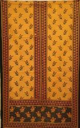 Sanganeri Print Cotton Gown Fabric, Multicolour