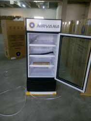 Stainless Steel Folding Door Vertical Refrigerator, Auto-Defrost, Capacity: 500 L