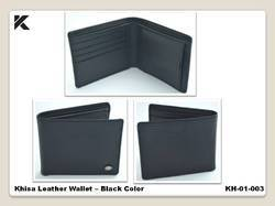 Khisa Leather Wallet - Black Color
