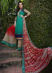 Embroidery And Printed Salwar Kameez