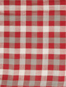 Red With White Checks Handwoven Cotton Fabric