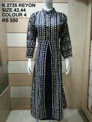 Rayon Full Sleeve Designer Kurti