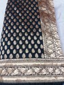 Pure Silk Black Hand Woven Saree