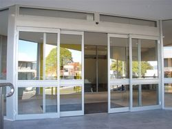 Silver Glass Automatic Doors, For Commercial