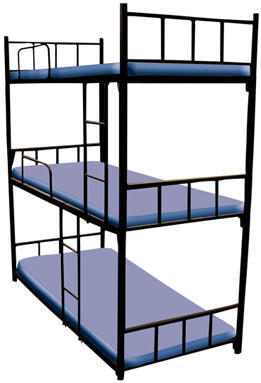 Three Tier Bunk Bed At Rs 11500 Piece Bunk Bed Id 11740937488
