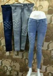 Ladies Torn Jeans