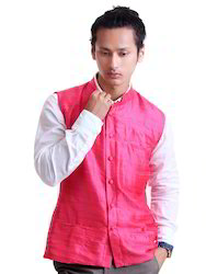 Pink Raw Silk Jacket