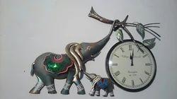 Isha Art Designer Hand Painted Metal Wall Clocks