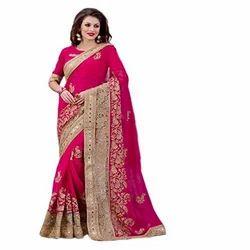 Stylish Embroidery Saree