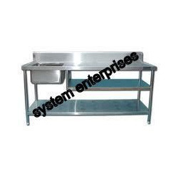 Used Work Table with Sink