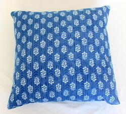 Indigo Printed Cotton Cushion Cover