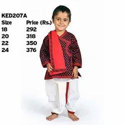 Traditional Print Dhoti Angrakha Set 207B