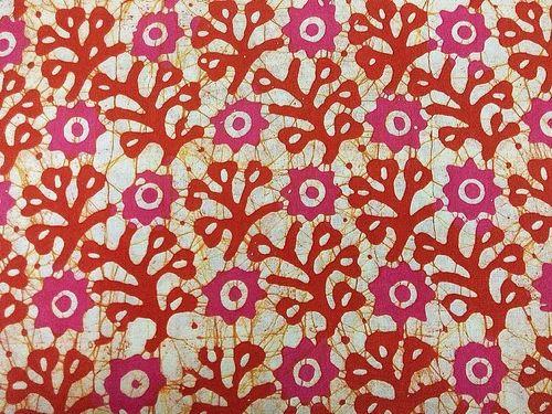 Batik Wax Hand Block Print Traditional Clothing Fabric