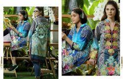 Cotton Party Wear Digital Print Embroidered Pakistani Kurti