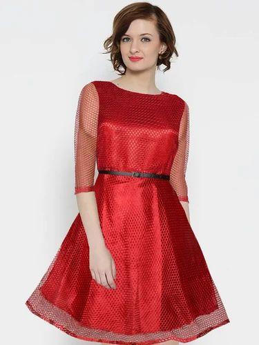 5f3c9da934b3 Red Western Dress