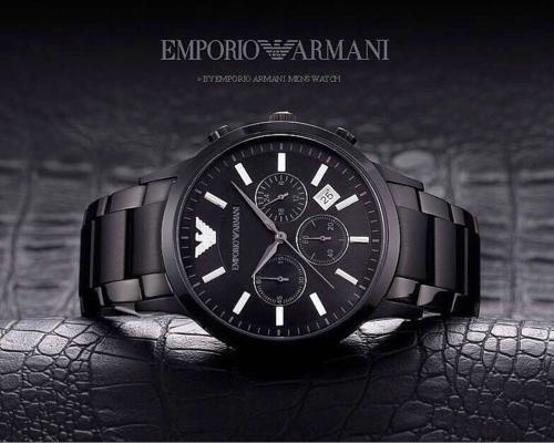 Emporio Armani AR2453 Black Mens watch at Rs 2400  pair  d324a7a1cb3