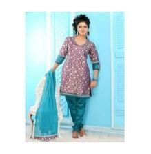 Embroidered Semi Stitched Anarkali Suit