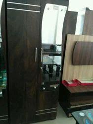 Balaji Furniture Brown Wooden Almirah, For Home