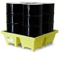 4drum Poly Slim Line 6000 Spill Pallet With Drain