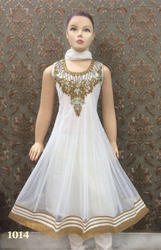 Girls Embroidered Anarkali