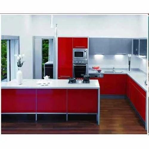 L Wooden Modular Kitchen Manufacturer: Wooden Modular Kitchen