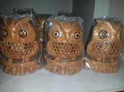 Wooden Under Cut Owl Fine Quality