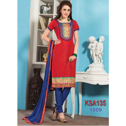 8c23084a2f Fancy Red Cotton Straight Cut Suit at Rs 489 /piece | Ladies Cotton ...
