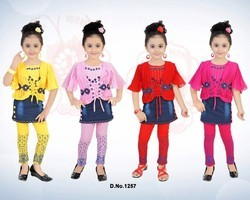 Girls Platted Middy With Attached Skirt And Legging