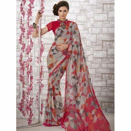 1b4369ab37 Digital Print Multycolor Fancy Printed Saree, Rs 820 /piece | ID ...