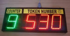 Single Counter Token Calling System
