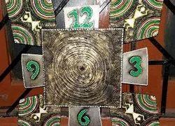 Warli Theme Mural Clock