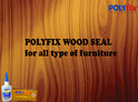 Polyfix Wood Seal for Filling Cracks in Wood With Sawdust