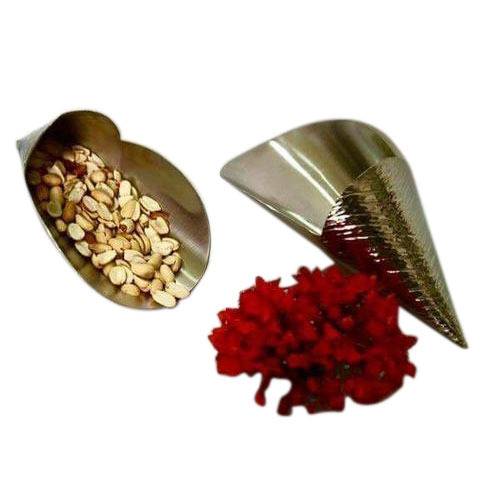 Kreative Arts Designer Stainless Steel Nuts Server, Shape: Oval