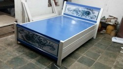 Metal storage double bed