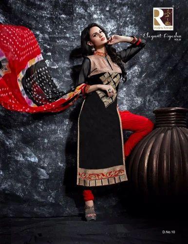 65dac2922c Ethnic Wedding Elegant Ayesha Vol-6 Cotton Dress Materials Salwar Suits