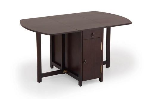 Perfect Sana Manufacturer Brown Wornet Folding Dining Table
