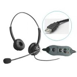 Freemate Noise-Echo Cancelling USB Headset DH09TB - Fidem