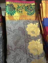 Floral Printed Ladies Silk Saree