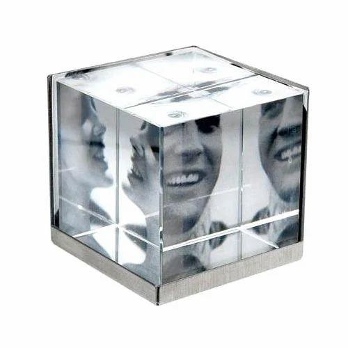 Crystal Cube Photo Frame at Rs 400 /piece(s) | T Nagar | Chennai ...