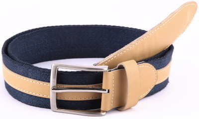 Casual Blue Canvas Belt