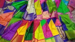 Festive Wear Pure Silk Cotton Kuppadam, Saree Length: 6.3 m (With Blouse Piece)