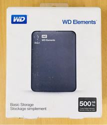 External HDD 500 GB WD