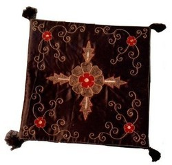 Mix Satin Embroidery Cushion Cover