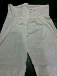 Stitched Rayon Cotton Embroidered Salwar, Waist Size: Free