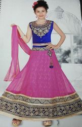 Embroidered  Kids Lehenga