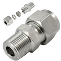 SS 316 Connector With Ferrule Fitting