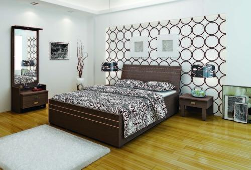 Royal Decor Luxury Furniture Brown Benito Bedroom Set (Hydraulic)